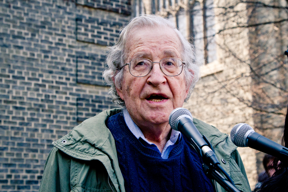 ~Noam Chomsky Speaking in Toronto in 2011.